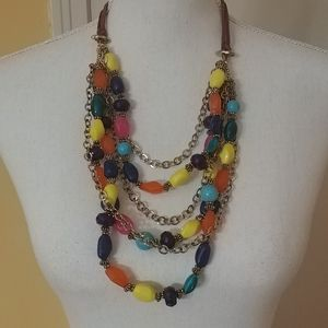 NWT $36 ERICA LYONS Multi-Colored Necklace